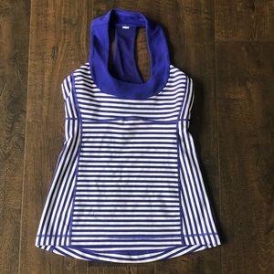 Lululemon 🍋 Blue Stripe Tank Top